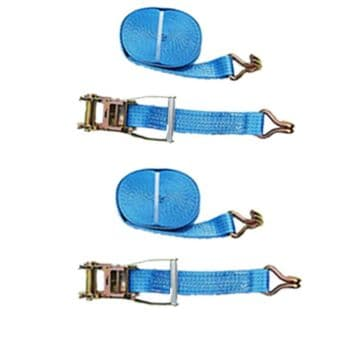 2 x 50mm 15 metre RATCHET LASHING STRAPS 5T Tie Down Lashing Claw Hook trailer